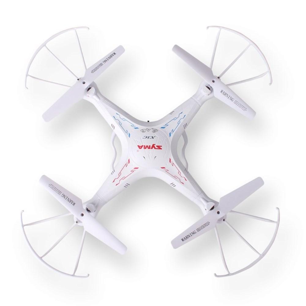 Syma - X5C Quadrocopter LED Drohne + HD Kamera (2.4 GHz) mit Fernbedienung - Weiss