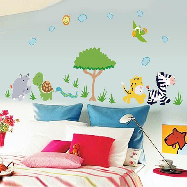Kinderzimmer Dschungel Wandtattoo Tier Motive